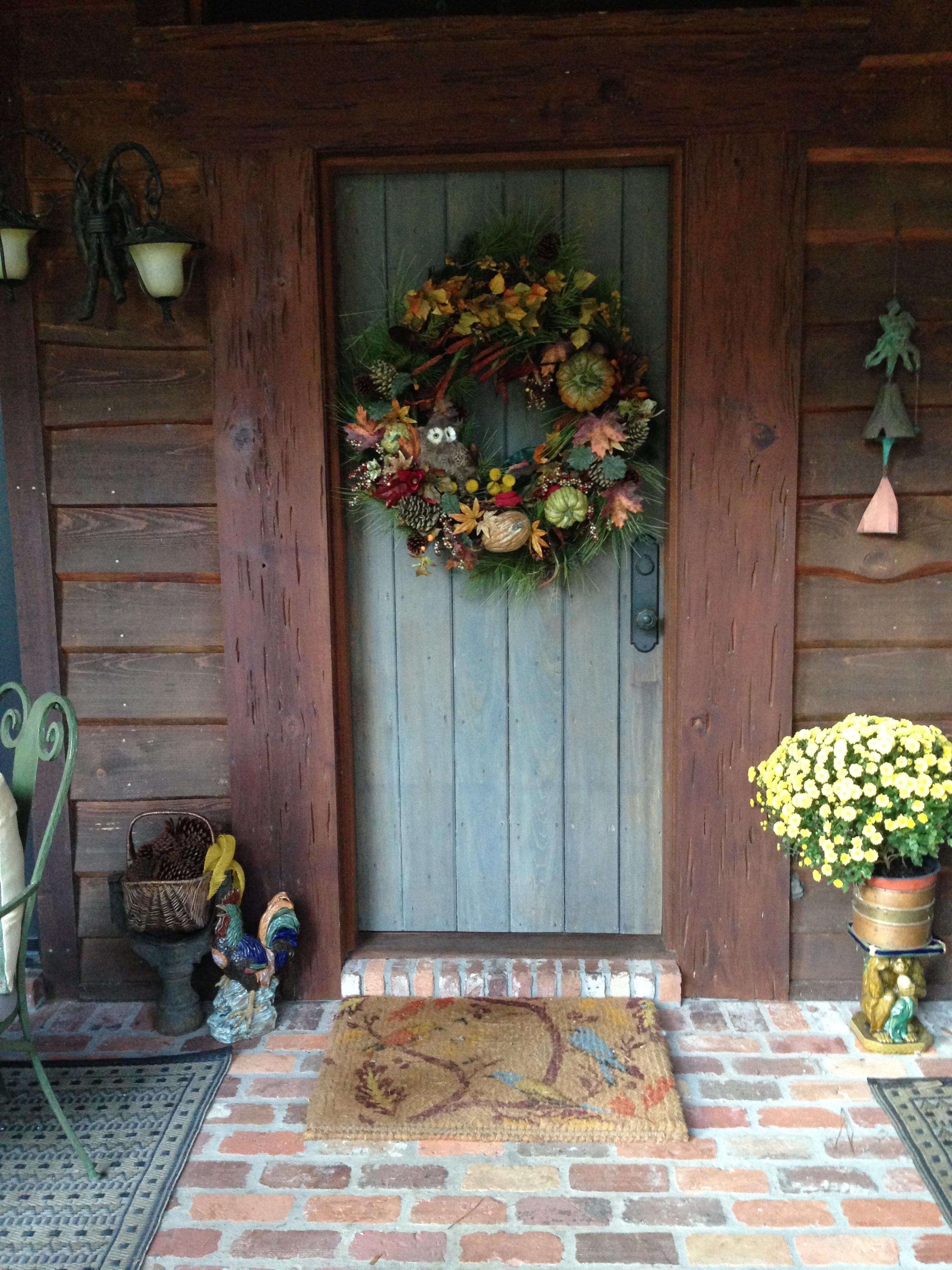 harvest wreath...